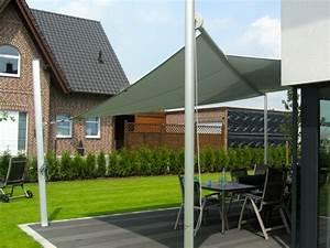 sonnensegel fur den garten bringen gemutlichkeit und uv With französischer balkon mit sonnensegel garten befestigung