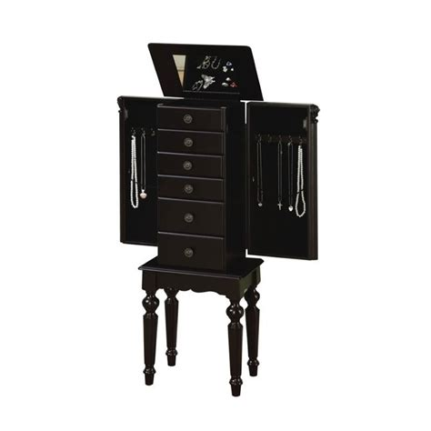 Black Jewelry Armoire Walmart by Powell Furniture Jewelry Armoire In Distressed