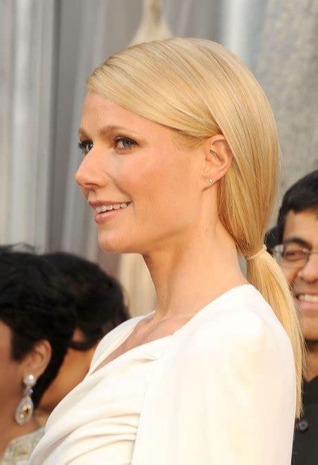 beautiful long blonde  loose ponytail hairstyle