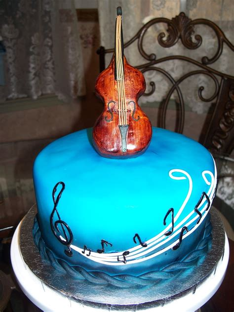 Double Bass Upright Guitar Birthday Cake Cakecentralcom