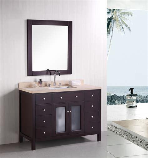 48 single sink bathroom vanity adorna 48 inch contemporary single sink bathroom vanity