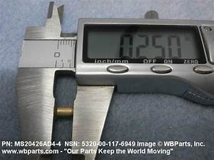 Ms20426ad4 4 Solid Rivet Lb Length 1 4 Quot Diameter 1 8 Quot