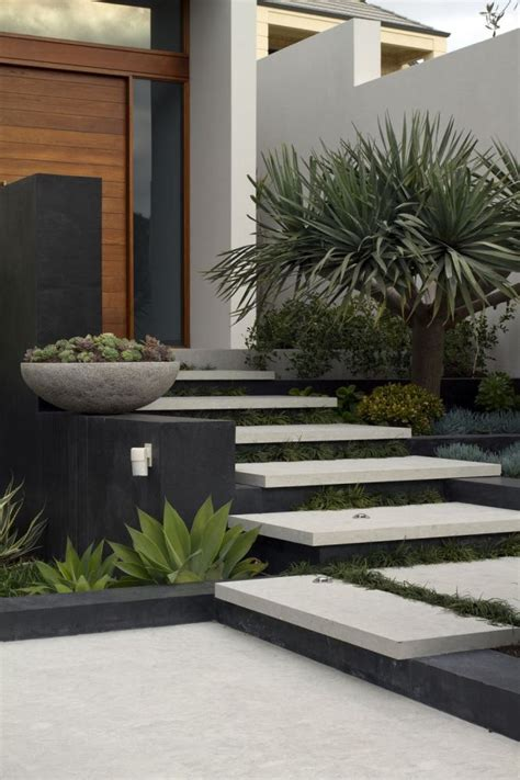 contemporary front garden design branksome by tim davies landscaping contemporary landscape landscape designs and landscape steps