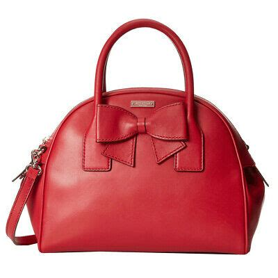 kate spade hanover street leather lorin domed satchel handbag dynasty red nwt  ebay
