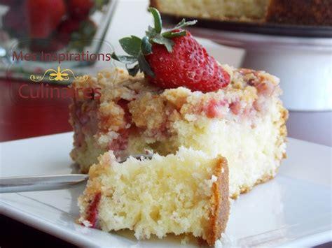 gateau aux fraises coffee cake le cuisine de samar