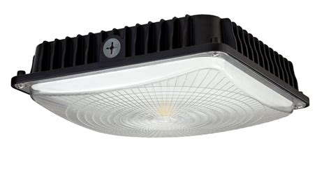 canape led wisdom s slim 45w led canopy lighting leverages cob design