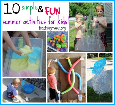 10 simple and summer activities for 133 | 10 Simple and Fun Summer Activities 1024x937