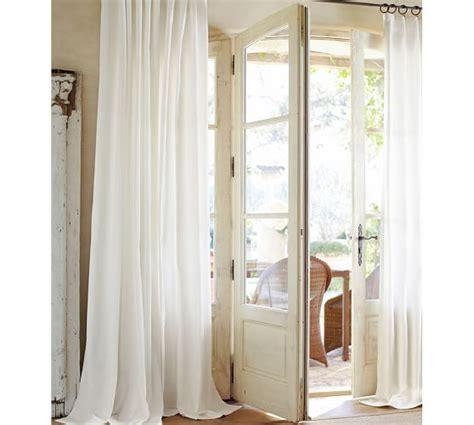 pottery barn curtain rod curtain