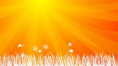 Sun Background Orange Sun Background Animation Hd
