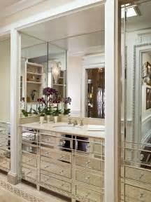 Restoration Hardware Mirrored Bath Accessories by Mirrored Bathroom Vanity Transitional Bathroom