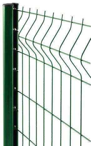 poteau 192 encoches en acier galvanis 201 vert pour panneau rigide pro h 2 40 m section 50 x 70 mm