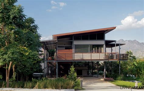 house architecture modern tropical house living asean Tropical