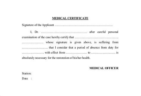 doctor certificate templates