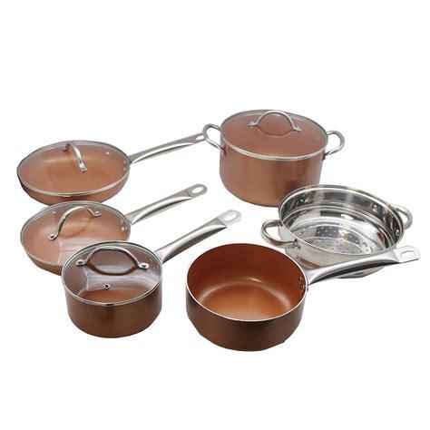 copper pan  pc set luxury cookware walmartcom walmartcom