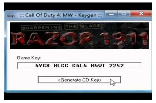 cod4 keygen free download