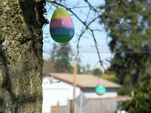 Easter, Eggs, In, The, Trees