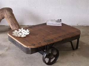 Table Basse Style Industriel : mobilier industriel meuble de style industriel bois et ~ Melissatoandfro.com Idées de Décoration