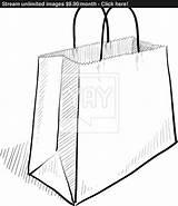 Bag Paper Drawing Bags Shopping Drawings Sketch Sketches Getdrawings Vector Paintingvalley sketch template