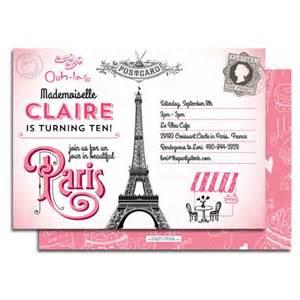Parisian Baby Shower Invitations by Printable Paris Birthday Party Invitation