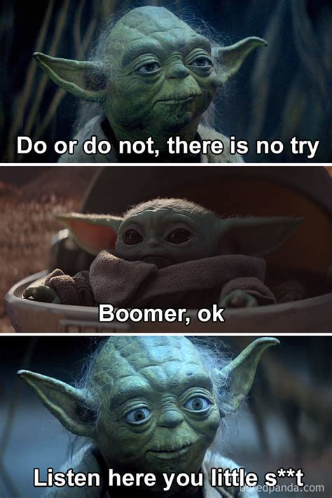 30 Baby Yoda Memes To Save You From The Dark Side | Yoda ...