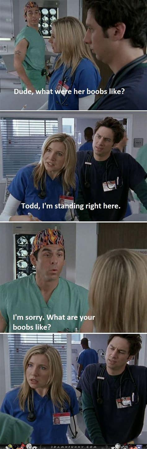 Scrubs Meme The Todd Scrubs Meme Scrubs Dr Elliot Is Insulted