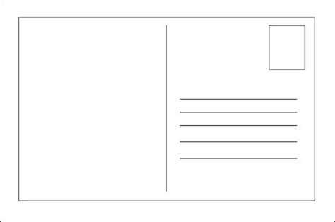 postcard address template word blank postcard template templates and activities