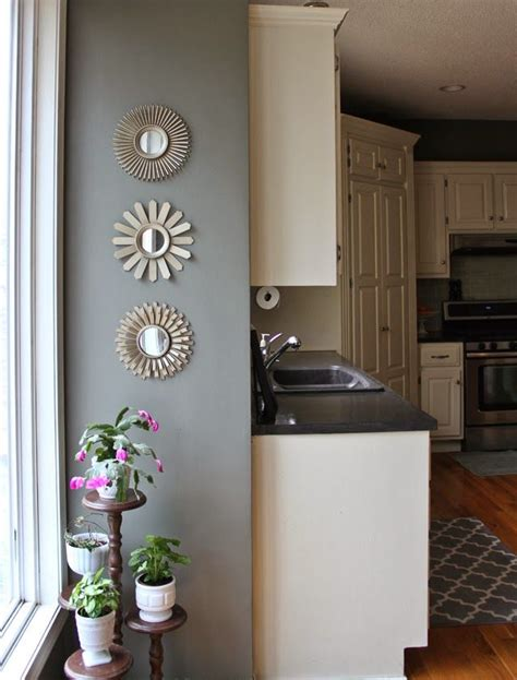 oh so lovely our 500 diy kitchen remodel wall paint martha stewart thunderhead paint and