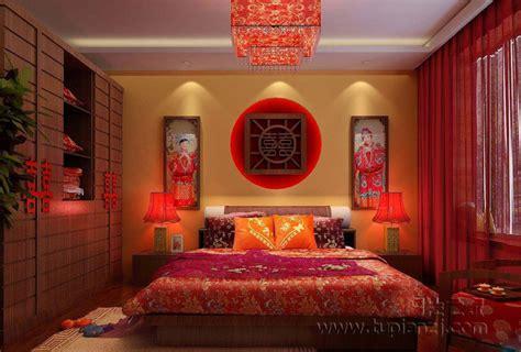 chambre chinoise 婚房布置效果图 温馨浪漫 卧室装修效果图 图片之家