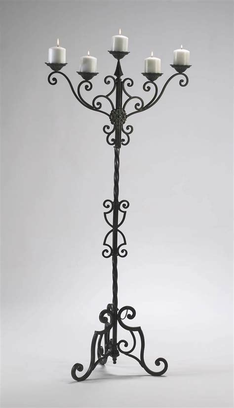 Tall Floor Standing Candle Holders by Tall Iron Candle Holders Light Fixtures Design Ideas