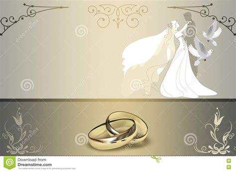 Wedding Invitation Card Design Background Gold Rings White