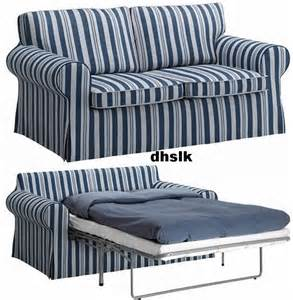 ikea ektorp sofa bed cover sofabed slipcover abyn blue white stripes 197 byn