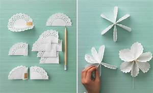 paper doily flowers diy how to make tutorial
