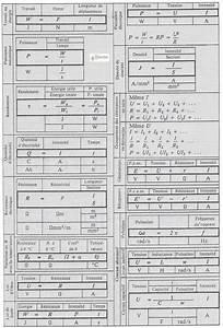 Formules  U00e9lectriques  D U0026 39  U00e9lectrotechnique D U0026 39  U00e9lectricit U00e9
