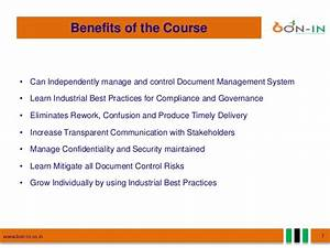 document management training consultancy edms software With document control training online