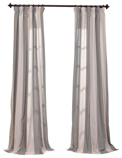 mar gray linen blend stripe curtain single panel