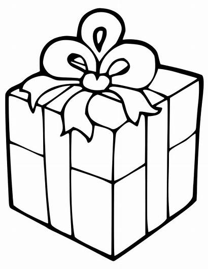 Gift Box Coloring Christmas Pages Present Printable