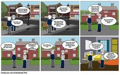 Comic Strip Children Storyboard