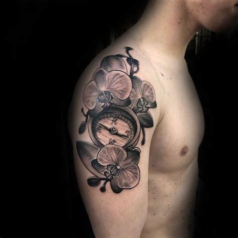 orchid tattoos  men timeless flower design ideas