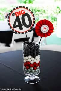 40th birthday centerpieces on pinterest