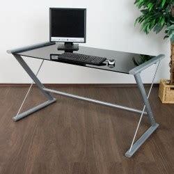 table bureau en verre table d 39 ordinateur de bureau en verre noir