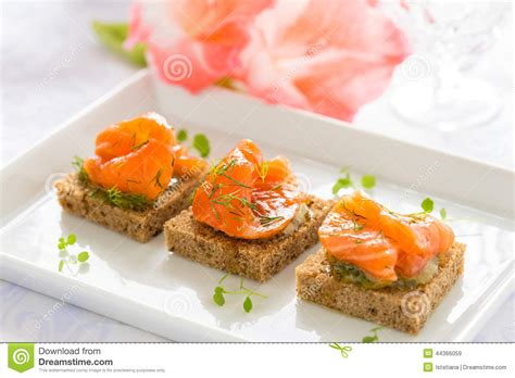 appetizer canape delicious appetizer canapes of black bread with smoked