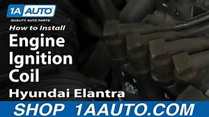 How To Install Replace Engine Ignition Coil 2003-06 Hyundai Elantra 2 0l