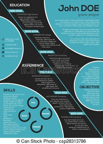 12520 resume icons circle modern resume curriculum vitae with cool vector clip