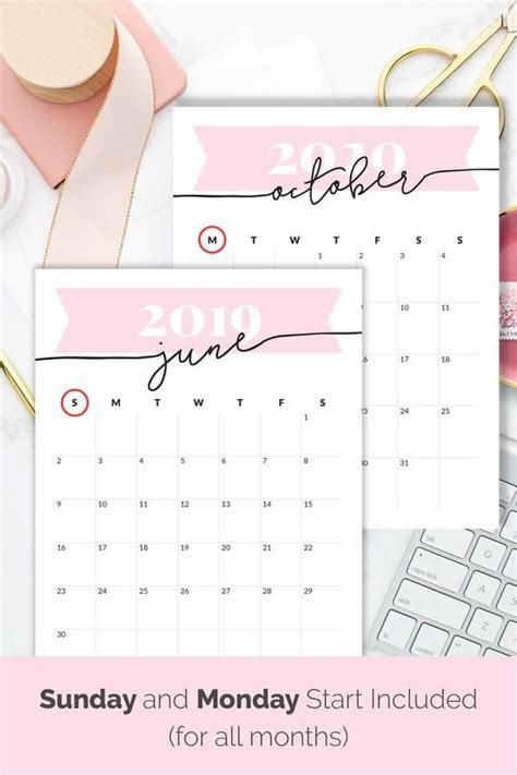 calendar   printable desk calendar  wall pink