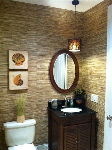 small bath solution  elegant tropical powder room