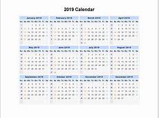 Free Week Number Calendar 2019 Printable Weekly Calendar