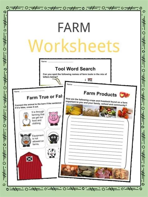 farm facts worksheets history animals   kids