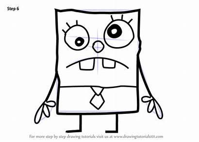 Spongebob Draw Squarepants Doodlebob Step Drawing Bob