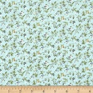 Subtle Skies Small Floral Blue - Discount Designer Fabric