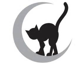 cat stencil cat moon pumpkin carving template stencil canvass world